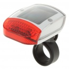 Solar Powered Rechargeable 2-LED 3-Mode Bicycle Safety Tail Light w/ Mount Holder