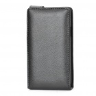 Protective Genuine Leather Cover Plastic Case for Samsung i9100 Galaxy S2 - Black