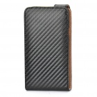 Protective Grass Leather Cover Plastic Case w/ Stylus for Samsung i9100 Galaxy S2 - Black