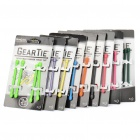 "3 ""Tie Gear caucho reutilizable giro Tie Wire / Cable Organizer (4-Piece Pack / color al azar)"