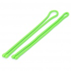 "24"" Gear Tie Reusable Rubber Twist Tie Wire/Cord Organizer - Light Green (Pair)"