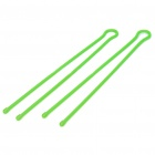 "32"" Gear Tie Reusable Rubber Twist Tie Wire/Cord Organizer - Light Green (Pair)"