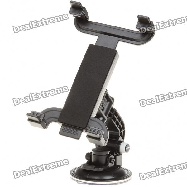 Car ABS Swivel Mount Holder with Suction Cup for Samsung Galaxy Tab P1000 - Blac