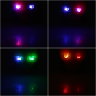 Unique Skull Shaped Multicolored 2-LED 2-Mode Bicycle Bike Safety Lights - Black (Pair/2 x CR2032)