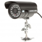 300KP Wired Surveillance Security CCTV Camera w/ 24-IR LED Night Vision - Black