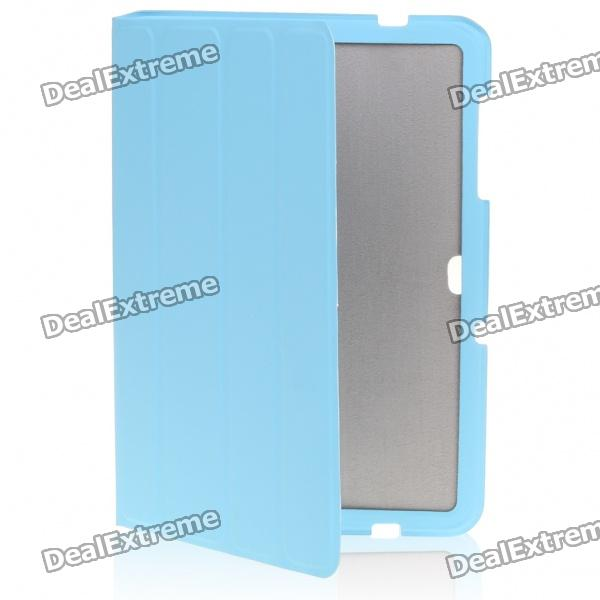 Protective Wake-Up/Sleep Smart Cover with Cleaning Cloth for Samsung P7510 - Blue