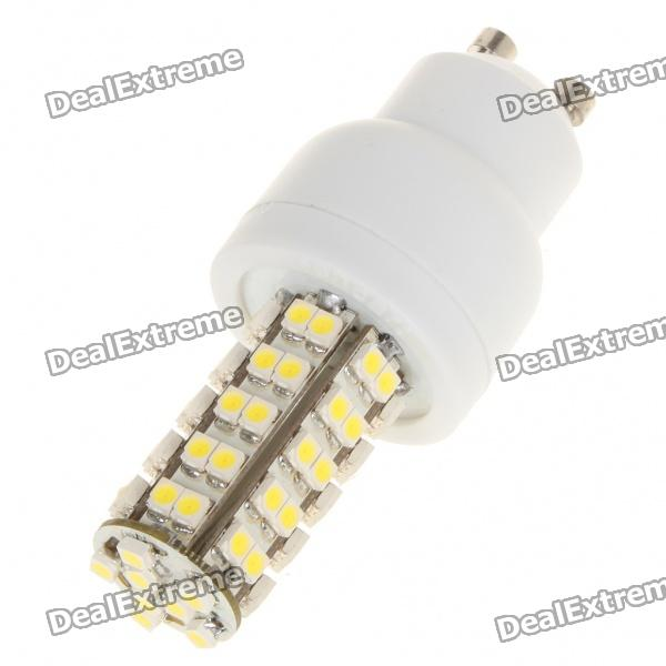 GU10 4W 6500K 240-Lumen 68x3528 SMD LED White Light Bulb (AC 85~265V) gu10 9w 6500k 810 lumen 18 led white light bulb ac 85 265v