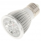 E27 5W 6500K 450-Lumen 5-LED White Light Bulb (AC 85~265V)