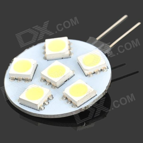 G4 1W 7000K 48-Lumen 6x5050 SMD LED White Light Blub (12V)