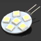 G4 1W 6500K 75-Lumen 6x5050 SMD LED White Light Blub (12V)