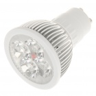 GU10 4W 6500K 360-Lumen 4-LED White Light Bulb (AC 85 ~ 265V)