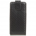 Protective PU Leather Case for Sony Ericsson Xperia ARC LT15i X12 - Black