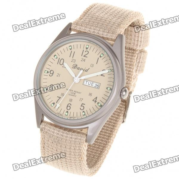 Military Glow-in-the Dark Water Resistant Quartz Wrist Watch - Beige (1 x SR626SW) sr рюкзак для девочки 1491 beige разноцветный sr