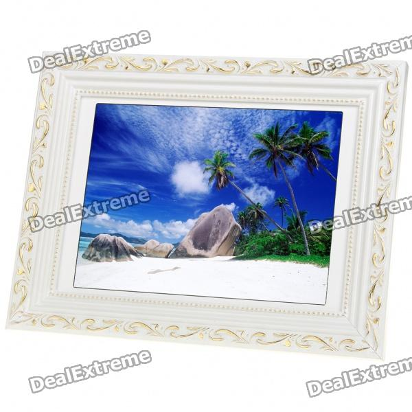 Wooden 12.1 LCD Digital Photo Frame with USB/SD/MMC/MS (800 x 600px) 8 4inch 8 4 non touch industrial control lcd monitor vga interface white open frame metal shell tft type 4 3 800 600