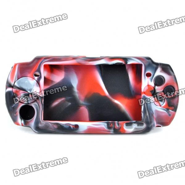 Silicone Protective Case for PSP 3000/2000 - Red + White + Black black horns колонки для sony psp 2000 3000
