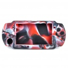 Silicone Protective Case for PSP 3000/2000 - Red + White + Black