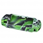 Silicone Protective Case for PSP 3000/2000 - Green + White + Black