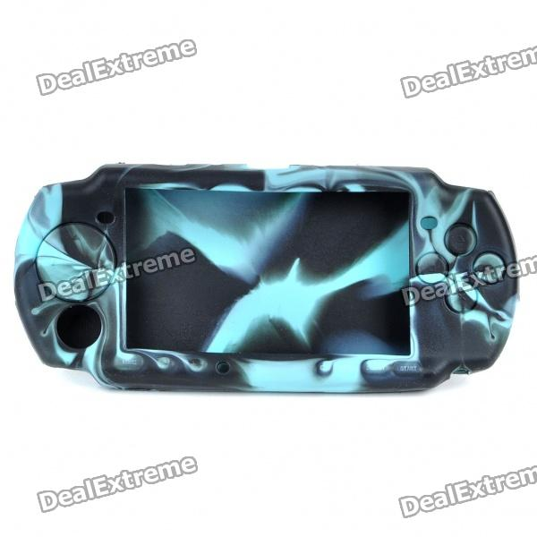 Silicone Protective Case for PSP 3000/2000 - Blue + Black black horns колонки для sony psp 2000 3000