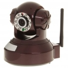 300KP H.264 Wireless Wi-Fi Surveillance IP Camera w/ 10-LED IR Night Vision - Brown