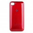 1400mAh Rechargeable External Battery Back Case with Cleaning Cloth for iPhone 4 - Red