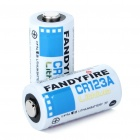 FandyFire CR123A 3.0V 900mAh Disposable Batteries (Pair)