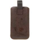 Protective PU Leather Case w/ Stylus for Samsung i9100/i9000 - Coffee
