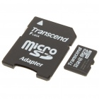 Genuine Transcend Micro SD/TransFlash Card with SD Card Adapter (32GB/Class 4)