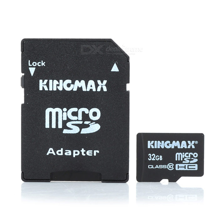 Genuine Kingmax Micro SD/TransFlash Card with SD Card Adapter (32GB/Class 10) ssk scrm 060 multi in one usb 2 0 card reader for sd ms micro sd tf white