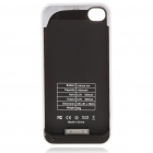 1400mAh Rechargeable External Battery Back Case with Cleaning Cloth for iPhone 4 - White