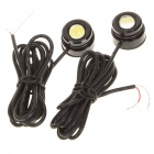 1W 7000K 130 Lumen Eagle Eye White Lights for Car (12V / Pair)