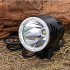 "T6 Smooth Crown Water Resistant XML-T6 3-Mode ""1200-Lumen"" White LED Bike Light with Battery Set"