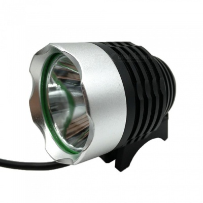 T6 Water Resistant 3-Mode White LED Bike Light w/ Battery
