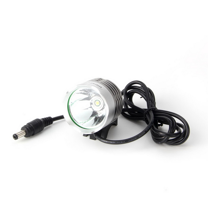 T6 Water Resistant XML-T6 3-Mode 930-Lumen White LED Bike Light with Battery Pack Set