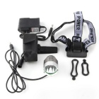 UltraFire T6 Resistente à água XML-T6 3-Mode 900-Lumen White LED Bike Light com bateria Set