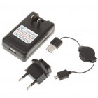 AC Powered Battery Charging Dock + EU Plug Adapter + Retractable USB Cable for HTC Sensation G14