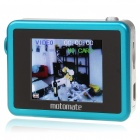 5MP Wide Angle Digital Car/Bike Mounted DVR Camcorder w/ TF Slot - Blue (1.8