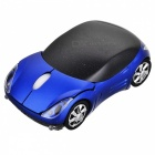 Car Style 2.4GHz 1200DPI Wireless Optical Mouse with USB Receiver - Blue + Black (2 x AAA)
