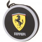 Portable Metal CD Storage Bag Box with Ferrari Car Logo (Holds 24-CD)