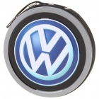 Portable Metal CD Storage Bag Box with Volkswagen Car Logo (Holds 24-CD)