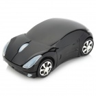 Car Style 2.4GHz 1200DPI Wireless Optical Mouse with USB Receiver - Black (2 x AAA)