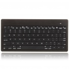 Ultrathin 80-Key Handheld Rechargeable Bluetooth V2.0 Wireless Keyboard - Black