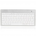 Ultrathin 80-Key Handheld Rechargeable Bluetooth V2.0 Wireless Keyboard - White
