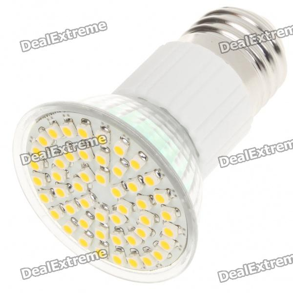 E27 3.5W 3500K 195-Lumen 48x3528 SMD LED Warm White Light Bulb (AC 85~265V)