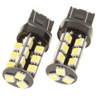 T20 5W 6500K 410LM 27x5050 SMD LED Car White Light Bulbs for BMW - Pair (DC 12V)