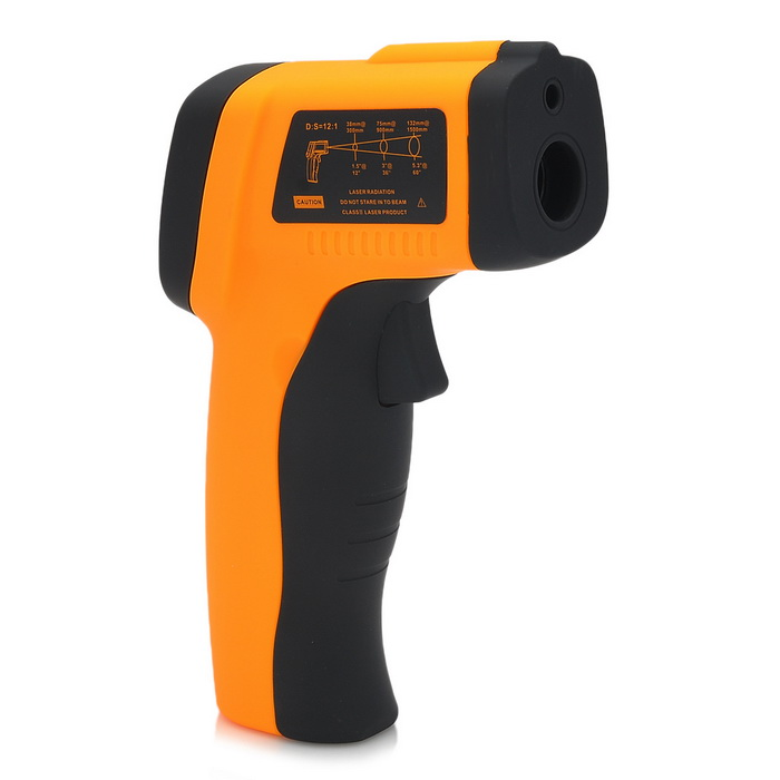 1.2 LCD Digital Infrared Thermometer with Laser Pointer digital infrared thermometer with laser sight random color 32 c 380 c 26 f 716 f