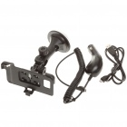 Car Swivel Mount Holder + Car Charger + USB Cable for Samsung i9100