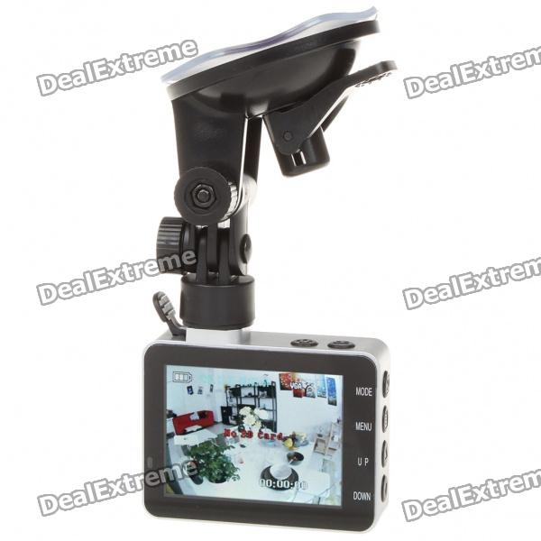 "300KP Weitwinkel Auto DVR Camcorder w / TF Slot (2,8 ""LCD)"