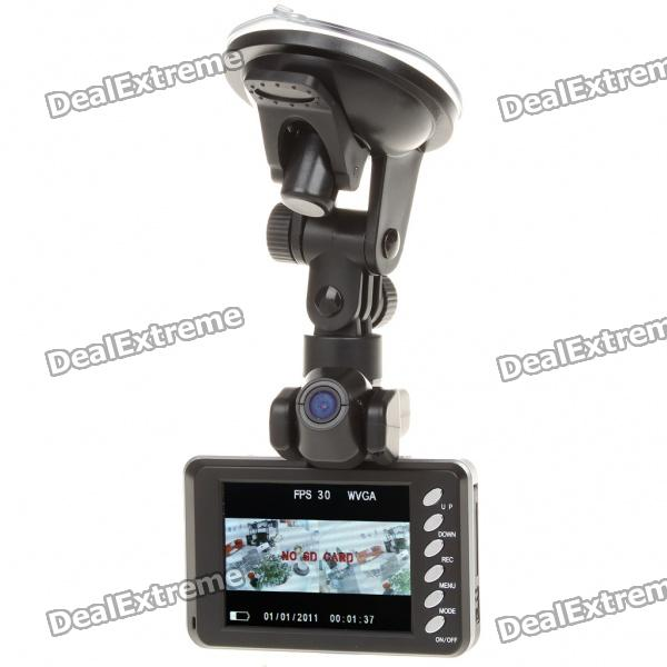 2MP Dual Lens Wide Angle Car DVR Camcorder w/ HDMI/TF Slot (2.8 TFT LCD)