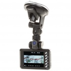 2MP Dual Lens Wide Angle Car DVR Camcorder w/ HDMI/TF Slot (2.8