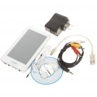 "4.3"" Touch Screen MP5 Media Player with FM/TF/TV-Out - White (4GB)"